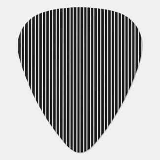 White Pinstripe/Black Pinstripe Guitar Pick