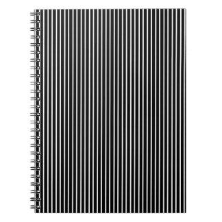White Pinstripe Notebook