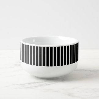 White Pinstripe Soup Mug