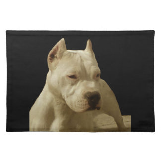 White Pitbull Terrier Placemat