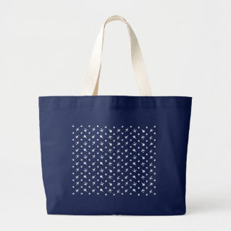 White Planes Background Large Tote Bag