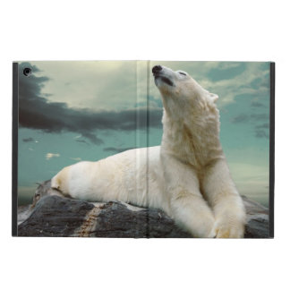 White Polar Bear Hunter on rock Case For iPad Air