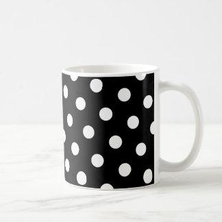 White Polka Dot Coffee Mug