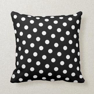 White Polka Dot Throw Pillows