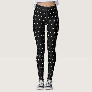 white polka dots leggings