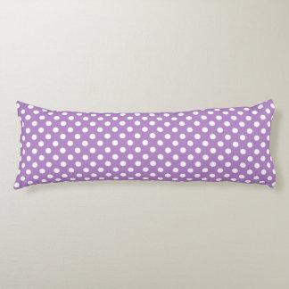 White Polka Dots on Thistle Purple Body Cushion