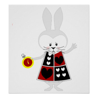 White Rabbit - Alice's Adventures in Wonderland Poster