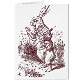White Rabbit Shower Invitation Greeting Card