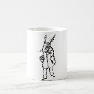 White Rabbit with Flowers Mug