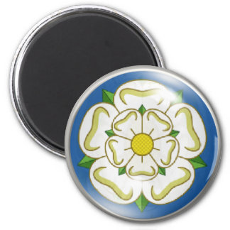 White Rose of Yorkshire Flag Magnet