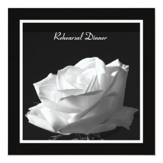 White Rose Rehearsal Dinner Invite