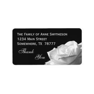 White Rose Thank You Address Label