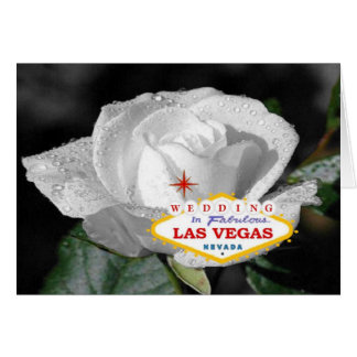 White Rose Wedding In Fabulous Las Vegas Card