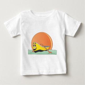 White Row Boat Cartoon Baby T-Shirt