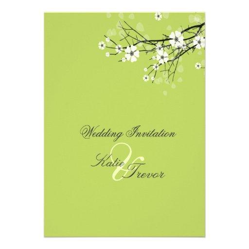 White Sakura Blossoms Invitations