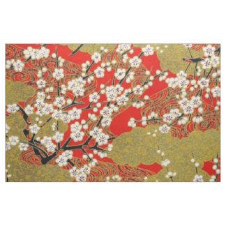 White Sakura Fine Vintage Japanese Pattern Fabric
