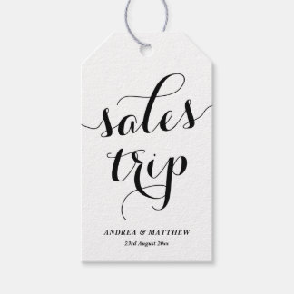 White Sales Trip Cute Modern Calligraphy Gift Tags