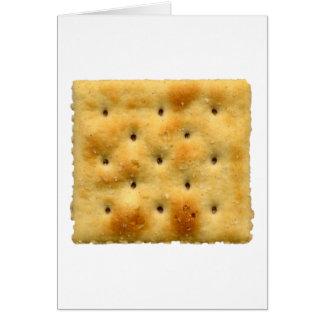 White Saltine Soda Crackers Greeting Card