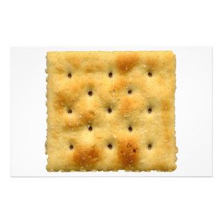 White Saltine Soda Crackers Customized Stationery