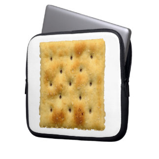 White Saltine Soda Crackers Laptop Sleeves