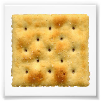 White Saltine Soda Crackers Photo Print