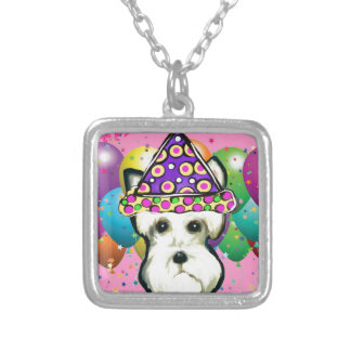 White Scottish Terrier Silver Plated Necklace