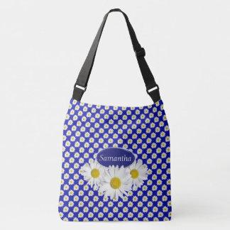 White Shasta Daisies Custom Crossbody Bag