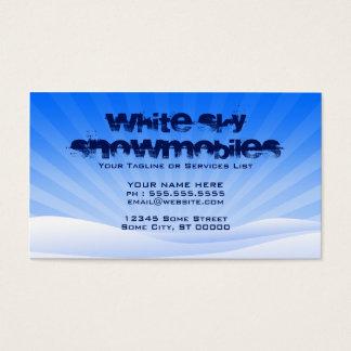 white sky snowmobiles business card
