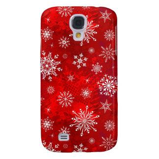 White Snowflakes Galaxy S4 Case