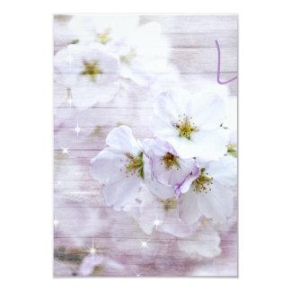 White Stylish Cherry Blossom 9 Cm X 13 Cm Invitation Card