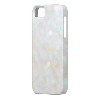 White Subtle Bokeh Sparkle Glitter iPhone 5s Case iPhone 5 Cases