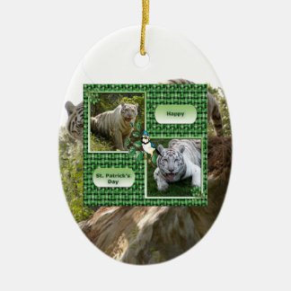 White Tiger Christmas Ornament