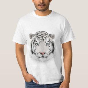 White Tiger Head White T-Shirt