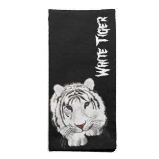 White Tiger Napkin in Black