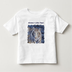 White Tiger with Blue Eyes Toddler T-Shirt