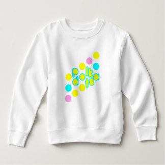 White Toddler Fleece Sweatshirt w/Polka Dot Design