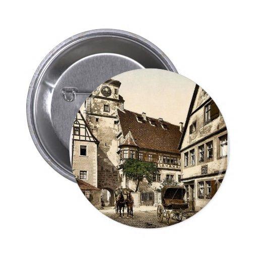 White Tower (i.e. Weisser Turm), Rothenburg (i.e. Button
