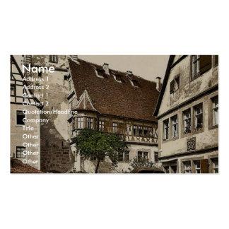 White Tower (i.e. Weisser Turm), Rothenburg (i.e. Business Card Templates