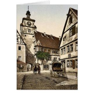White Tower (i.e. Weisser Turm), Rothenburg (i.e. Greeting Card