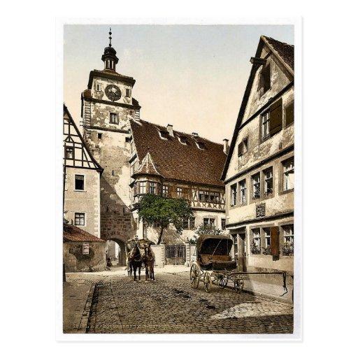 White Tower (i.e. Weisser Turm), Rothenburg (i.e. Post Cards
