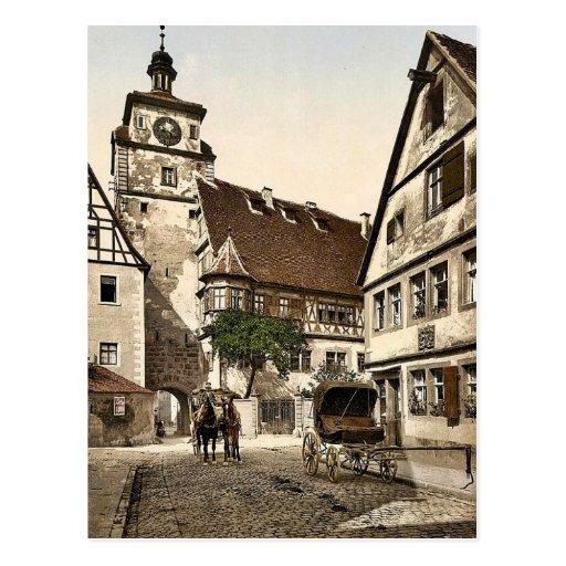 White Tower (i.e. Weisser Turm), Rothenburg (i.e. Postcards