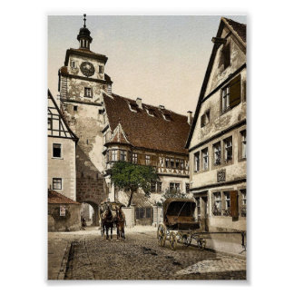 White Tower (i.e. Weisser Turm), Rothenburg (i.e. Poster