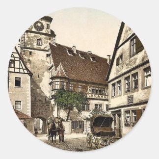 White Tower (i.e. Weisser Turm), Rothenburg (i.e. Round Sticker