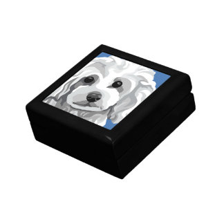 White Toy Poodle Gifts Gift Box