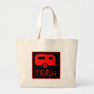 White Trailer Park Trash Poor Dumb Redneck Canvas Bag