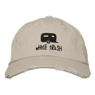 white trash trailer hat embroidered cap