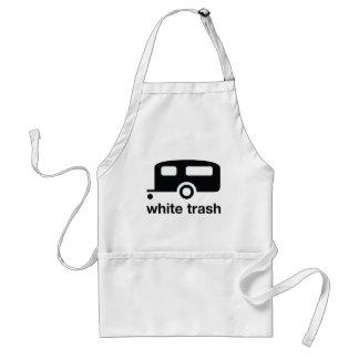 White Trash trailer icon - trailer park Adult Apron