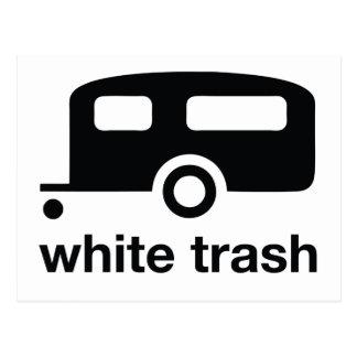 White Trash trailer icon - trailer park Postcards