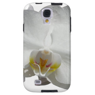 White Tropical Orchid Galaxy S4 Case