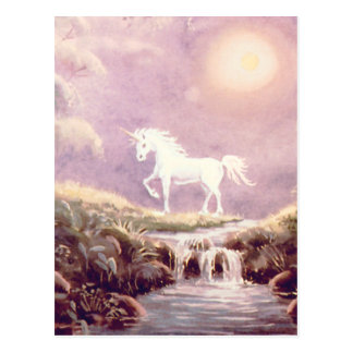 WHITE UNICORN by SHARON SHARPE Postcard